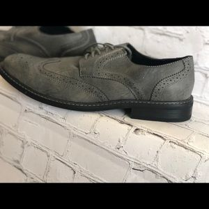 Perry Ellis Grey Leather Men's shoes
